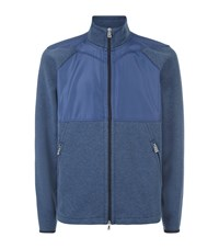 Bogner Mixed Panel Zip Sweater Male Blue