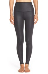 Alo Yoga Women's Alo 'Airbrush' High Waist Leggings Black Glossy