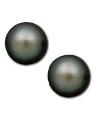 Macy's Pearl Earrings 14K Gold Cultured Tahitian Pearl Stud Earrings 8Mm