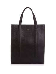 Paul Smith Concertina Leather Tote Black Multi