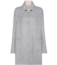 Closed Bubble Pori Reversible Wool Blend Coat Grey
