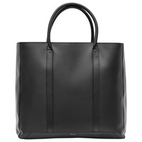 Reiss Leather Tote Bag Black