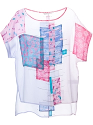 Tsumori Chisato Landscape Print T Shirt Pink And Purple