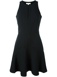 Michael Michael Kors Flared Zipped Dress Black