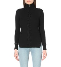 Sandro Lina Knitted Cardigan Noir