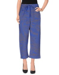 Erika Cavallini Semi Couture Erika Cavallini Semicouture Trousers 3 4 Length Trousers Women Bright Blue