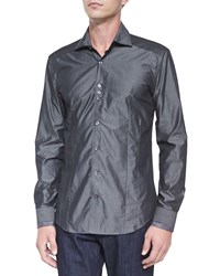 Bogosse Solid Long Sleeve Sport Shirt Dark Gray