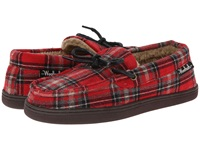 Woolrich Lewisburg Chocolate Plaid '14 Men's Slippers Red