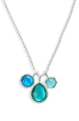 Women's Ippolita 'Rock Candy Wonderland' Semiprecious Stone Triple Pendant Necklace Silver Blue Star