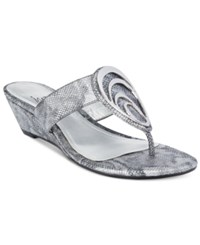 Impo Gibson Wedge Sandals Women's Shoes Pewter
