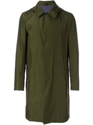Jil Sander Reversible Trench Coat Green