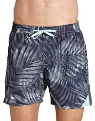 Bench Frequency Leaf Swim Trunks Black