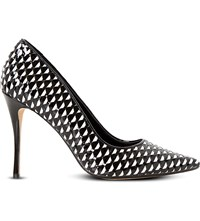 Dune Brooklyne Patent Court Shoes Black White Patent