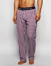 French Connection Lounge Pants In Red Check Red