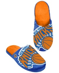 Forever Collectibles Men's New York Knicks Big Logo Slippers