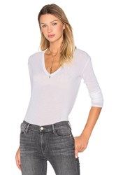 Enza Costa Loose Long Sleeve Top White