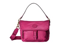 Tory Burch Scout Nylon Crossbody Hibiscus Flower Cross Body Handbags Pink