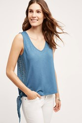 Meadow Rue Krista Laced Tank Top Blue