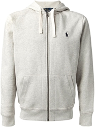 Polo Ralph Lauren Zip Up Hoodie Grey
