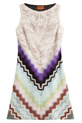Missoni Crochet Knit Mini Dress Multicolor