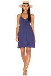 Lamade Asymmetric Wrap Dress Purple