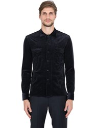 Salvatore Piccolo Stretch Corduroy Cotton And Modal Shirt
