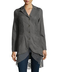 Xcvi Paisley Lace Detailed Jersey Jacket Shadow