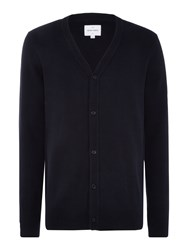 Peter Werth Men's Lucas Zig Zag Knitted Cotton Cardigan Navy