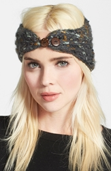 Renee's Accessories Renee's Nyc Accessories Metallic Knit Head Wrap Grey
