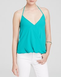 Olivaceous Top Crossover Halter Miami Green