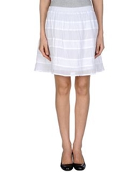 .. Merci Merci Knee Length Skirts White