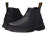 Dr. Martens Oakford Chelsea Boot Black Grizzly Hi Suede Wp Men's Pull On Boots