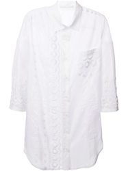 Ermanno Scervino Embroidery Details Shirt White