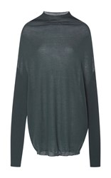 Rick Owens Crater Knit Long Sleeve Tshirt Green