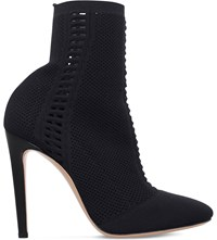 Gianvito Rossi Vires Stretch Knit Shoe Boots Black