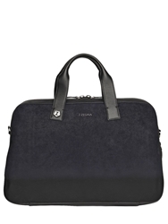 Zzegna Gradient Suede And Leather Briefcase Black Blue