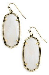 Kendra Scott Women's 'Elle' Drop Earrings White Agate Antique Brass