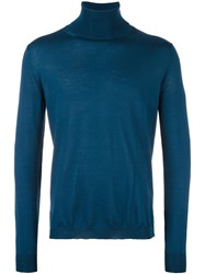 Boglioli Roll Neck Sweater Blue