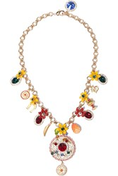 Dolce And Gabbana Gold Plated Swarovski Crystal Necklace