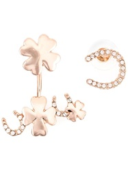 Luxury Fashion Lucky Charms Earrings White