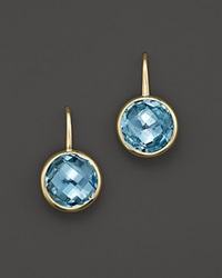 Bloomingdale's Blue Topaz Small Drop Earrings In 14K Yellow Gold Gold Blue