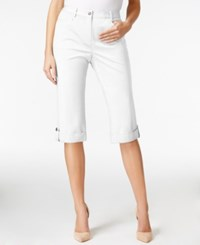Jm Collection Studded Cuff Skimmer Shorts Only At Macy's Bright White