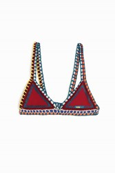 Kiini Soley Triangle Bikini Top Red