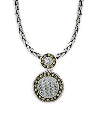 Effy 18K Yellow Gold 925 Sterling Silver And Diamond Pendant Necklace