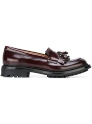 Church's Tassel Loafers Red