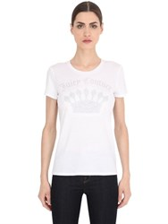 Juicy Couture Logo Printed Cotton Jersey T Shirt