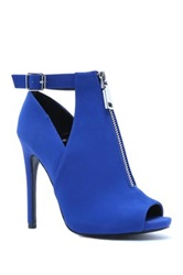 Qupid Cutout High Heel Pump Blue