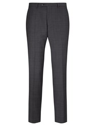 John Lewis Super 100S Wool Glen Check Tailored Suit Trousers Grey