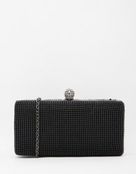 Liquorish Embellished Box Clutch Bag Black