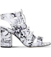 Senso Rhiannon Marble Effect Leather Sandals White Comb
